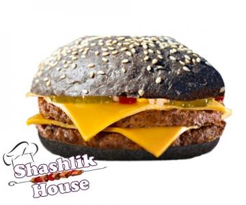 Двойной блэк чизбургер